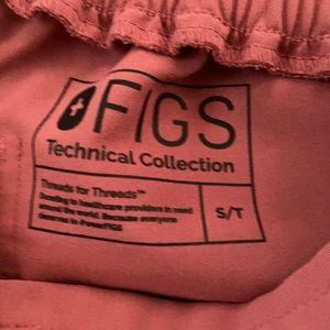 Figs Mauve Yola skinny scrub pants